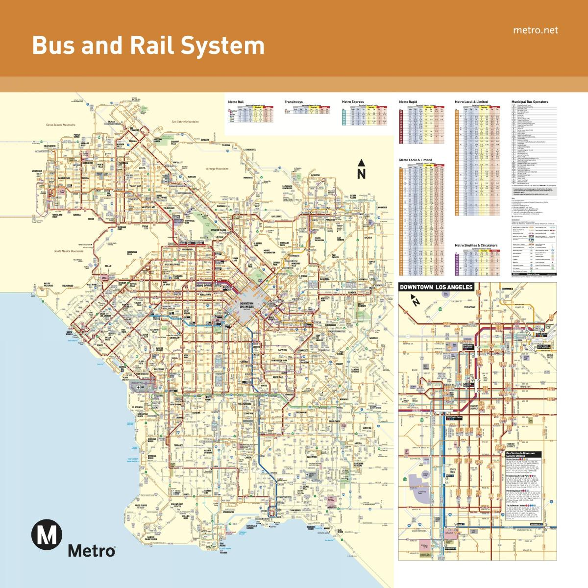 Los Angeles bus station map